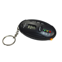 Keychain Portable Digital Breath Alcohol Tester with Timer Analyzer Breathalyzer Drive Safety Material Black Color