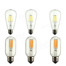 Buy Vintage Edison Bulb COB LED Light Dimmable ST64 T45 6W Tungsten Filament Tubular Lamp Bulb Decor Lighting AC 110V 220V 640 Lm for $3.17 in AliExpress store