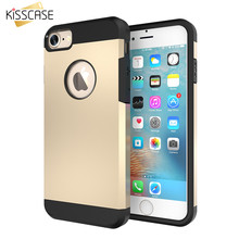 KISSCASE 4s 5s Hard Armor Case TPU+PC Hybrid Tough Cover For Apple iPhone 5 5s SE 4 4S Slim Capa Silica Gel Shell