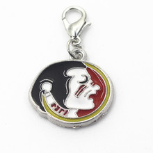 10pcs/lot NCAA Florida state Seminoles dangle charms sports lobster clasp charm DIY bracelet/necklace hanging charm jewelry