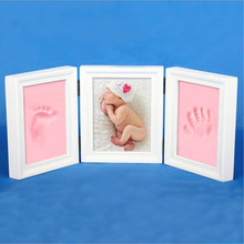 Large Growing gift baby photo frame DIY handprint or footprint soft clay safe non-toxic best souvenir gift for baby photo album