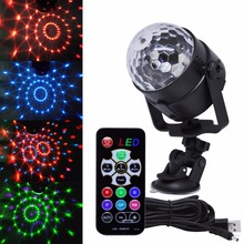 Muliti Colors Sound Activated Led Stage Lighting effect Disco Ball Strobe Disco Lights 4W Dj Clube Lamp christmas Light 4M USB(China)