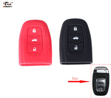 DANDKEY 3 Buttons Silicone Car key Cover Smart Remote Case for Audi Q5 S4 S5 A4L Free Shipping(China)