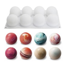 Silicone Ball Shape Mold Chocolate Bread Mousse Jelly Baking Molds Specialty Novelty Cake Baking Tool Mould Pastry tool kids