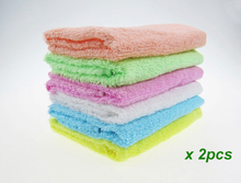 2PC Super absorption hot sale promotion 100% cotton candy color hand towel useing kitchen cute 26x26cm cheap for wholesale