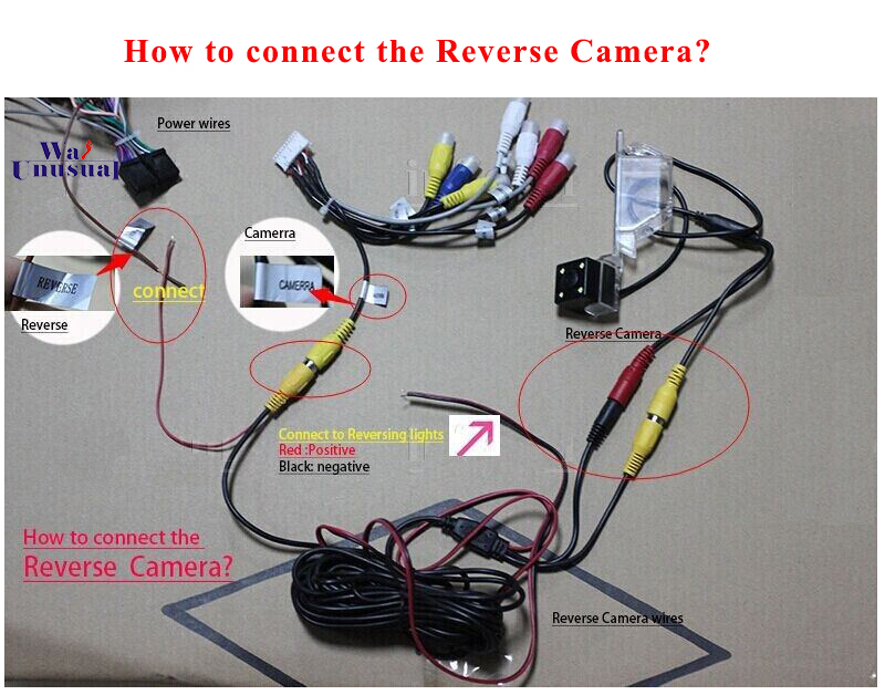 how ro connect the reverse camera