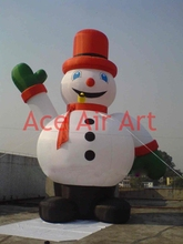 inflatable advertising decoration inflatable Christmas snowman smoking