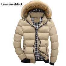 New Parkas Outerwear Zipper Coat Men Warm Jacket Thick Padded Jackets 2017 Brand Parka Big Yards Hooded Design Coats 101
