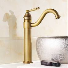 Free shipping vintage faucet antique finishing brass taps bath mixer basin faucets silver antique black golden hot and cold sink