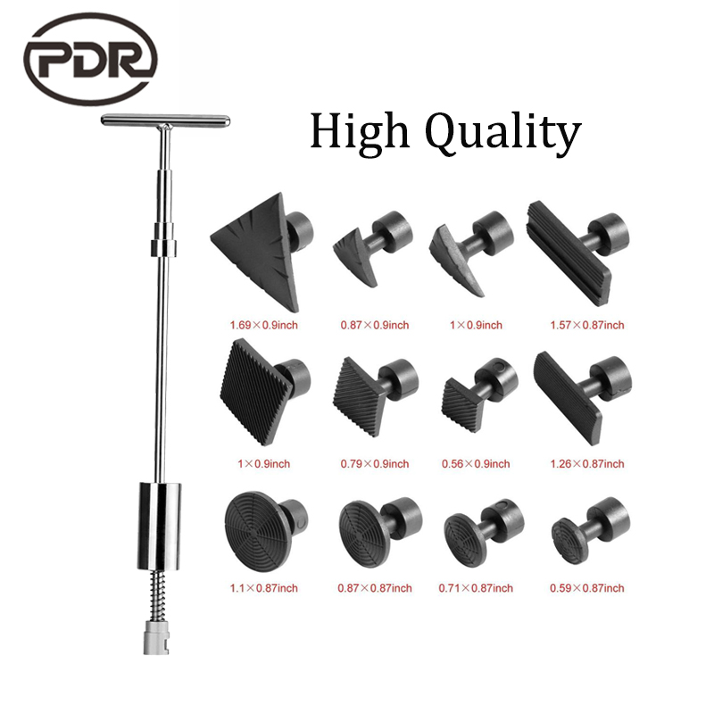 PDR Tools Kit Paintless Dent Repair Dent Removal Car Dent Repair Dent Puller Slide Hammer Black Glue Tabs Suction Cup Sucker<br>
