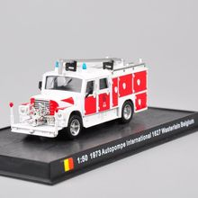 1/50 Scale Alloy Diecast Fire Truck Model Toys 1973 Autopompe IN 1627 Wasterlain Belgium Car Model Gifts   Collections