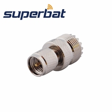 Superbat RF ADAPTER MINI UHF MALE PLUG TO UHF FEMALE JACK PL259 FOR KENWOOD ANTENNA CABLE MOTOROLA(China)