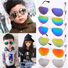 New 2015 Baby Boy Girls Kids Goggles Vintage Children Sunglasses Top Fashion Glasses Coating Sun glasses Free Shipping 41