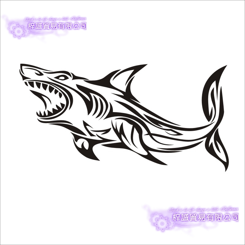 Fishing Sticker Car Shark Fish Decal Angling Hooks Tackle Shop Posters Vinyl Wall Decals Hunter Decor Mural Sticker