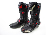 New arrive automobile race boots motorcycle boots ride boots 1003 3 colors waterproof(China)