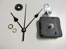 100x promotion sweep Clock Movement quartz wall clock mechanism Centre Screw type movement with black long hands DIY clock kits