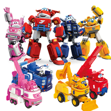 17cm*11cm Super Wings Model Toys Transformation Robot Airplane Action Figures Toys Super Wing for Birthday Gift Brinquedos(China)