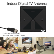 Indoor Digital TV Antenna HDTV Antenna with Sucker 470-860MHz F Male Connector for United States/Canada/Mexico for HDTV