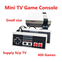 Best price super Mini TV Game Console Video Game player Console For Nes Games Built-in 500 Games Double Gamepads Support N/P TV(China)