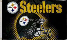 7 Color Pittsburgh Steelers Helmet Allegiance Team American Outdoor Indoor Football College Flag 3X5 Custom USA Any Hockey Flag