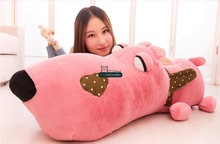 Dorimytrader 43'' / 110cm Giant Plush Soft Stuffed Large Animal Dog Toy 4 Colors and Nice Baby Gift Free Shipping DY60665(China)