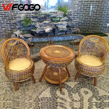 WFGOGO Furniture Rattan Color Garden Sets Chairs+Tables Indoor-Outdoor Restaurant Stack Coffee Tables Tables Weather Outdoor(China)