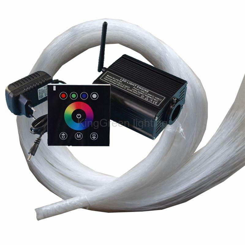 DC12V RGBW LED 16W fiber optic light engine driver + 2.4G touch controller + 500PCS 0.75mm 2m end glow PMMA fiber optic cable <br><br>Aliexpress