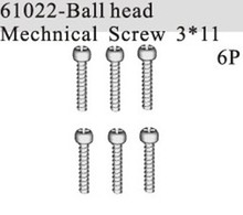 HSP part 61022 Ball Head Mechnical Screw 3*11mm X6P For 1/8 RC model Truck Buggy Car hobby spare parts(China)