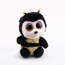 Ty Beanie Boos Original Big Eyes Plush Toy Doll Child Brithday 10 - 15cm Honeybee TY Baby For Kids Gifts