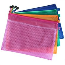 5 Pcs Waterproof Double Layer Zipper File Bags Stationery File Storage Packing Zip Lock Folders Bags Holders For A5 Paper