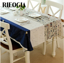 RIEOGIA Table Cloth Mosaic Multicolor High Quality Lace Tablecloth Decorative Elegant Table Cloth Linen Table Cover ZBML0006(China)