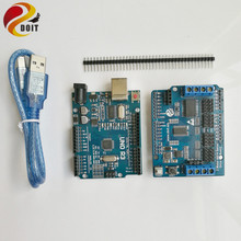 Official DOIT Robot Controller Development KIT For Arduino UNO R3 2 Way Motor 16 Way Servo for Mobile Robot Arm Tank Car Chassis