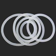 10PCS 3.1mm wire diameter 31mm-80mm outside diameter silicone seal O-ring Silica gel Sealing ring washer high temperature white(China)