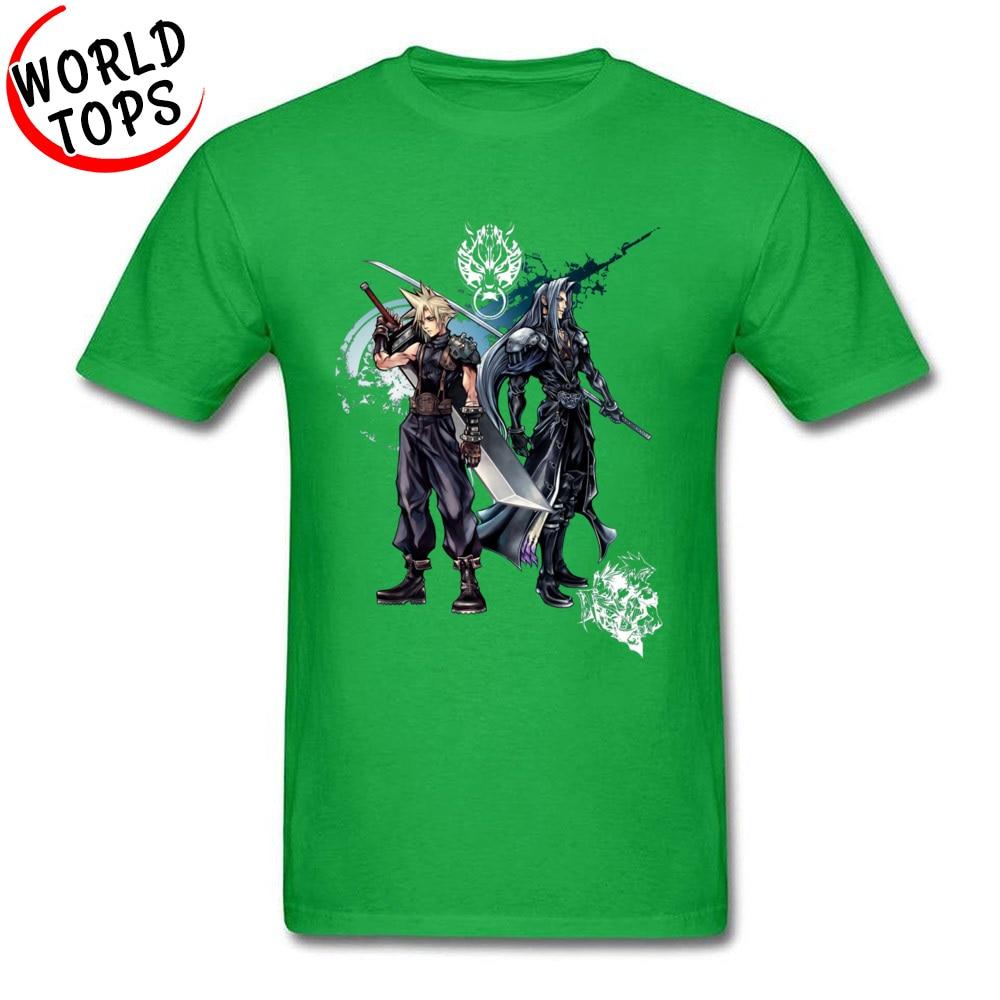 FFantasy -2365 Cotton Fabric Tees for Men Geek Tshirts comfortable Special O-Neck Tshirts Short Sleeve Top Quality FFantasy -2365 green