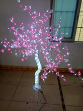 Free ship 1.5M/5ft  height Indoor Outdoor LED Crystal Cherry Tree Light Holiday Garden Wedding Decor 576 LEDs