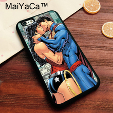 Buy MaiYaCa WONDER WOMAN & SUPERMAN KISSING Case iPhone 7 Phone Case Soft TPU Skin Cover Apple iPhone7 Cover Bags Shell for $4.26 in AliExpress store