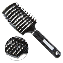 Hair Scalp Massage Comb Hairbrush Bristle&Massage Particles Curly Detangle Hair Brush for Salon Hairdressing Styling Tools(China)