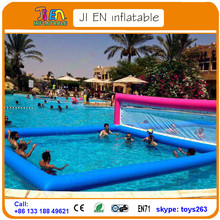 floating inflatable football field / floating inflatable vollegball field,inflatable beach volleyball court For Seaside