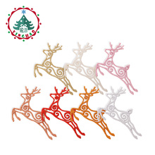 inhoo 8PCS Christmas pendant Hanging Deer Christmas Tree Drop Ornaments for Home Party Baubles Xmas Decor Supplies Kids Gifts(China)