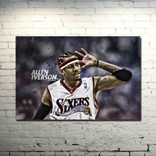 Allen Iverson Basketball Star Silk Cloth Poster 13x20 24x36inch Basketball Pictures for Home Wall Decor 027(China)