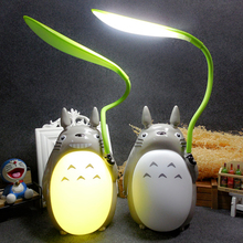 Cute Totoro Desk Lamp Led Reading Table Lamps  Kawaii Night Light Usb Rechargeable Bedroom Lighting Children Kids Birthday Gift