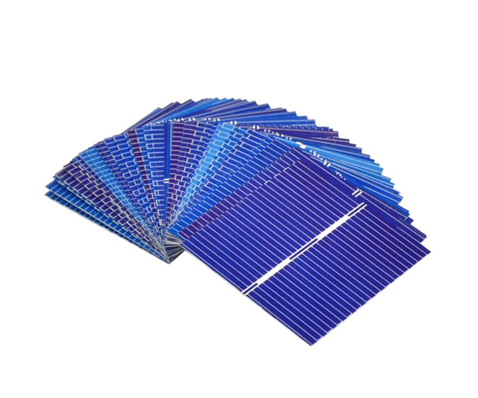 Aoshike 100pcs Polycrystalline Solar Panel 39*39mm 0.5V 0.25W Solar Battery Silicon DIY Solar Charger Battery Painel Solar 6