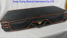 1pcs High Grade black double Violin case
