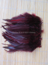 100Pcs 4-6 Inches 10-15 cm Red wine Rooster Feather for Clothing Jewelry Hat Christmas Holiday Decorative Cock Feathers