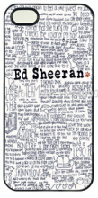 2015 Authentic ED Sheeran Song Quotes Plastic Hard Back Plastic smartphone Case cover for iphone 4s 5s 5c 6 6 plus