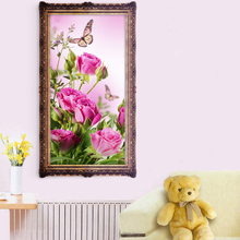 30 * 56cm Flower Embroidery 5D DIY Rose Diamond Painting Cross Stitch Handmade Home Decor Rhinestone Crafts