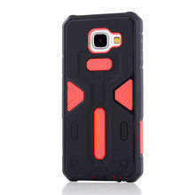 For Samsung Galaxy A310 [Cool Robot] PC + TPU Hybrid Cell Phone Back Case Armor Cover Dust Plug Drop Protection Fashion