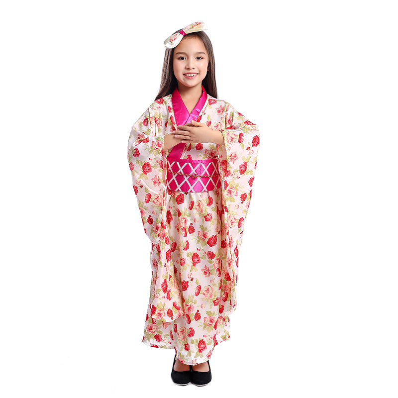 Girls Asian Princess Japanese Geisha Child Ceremonial Kimono National Halloween  Costume | GetGo Deals
