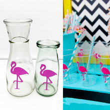 DoreenBeads 12 PCs Flamingo Stickers Bird Animal Cup Bottle Sticker Decoration Kitchen Bar Jar Wall Mirror Decor Decals Tags(China)