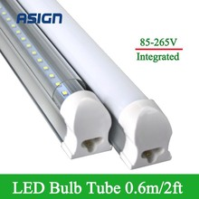 T8 2ft 10W Led Bulbs Tubes Integrated T8 48LEDs SMD2835 Super Bright 1000lm Led Fluorescent Lights Tube Lamp AC85-265V CE ROHS